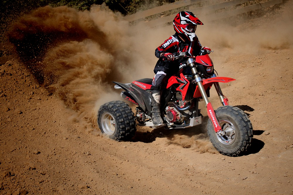 The Quick Revving Nature Of Modern Four Stroke Lets You Get Rear Wheels Spinning For Slides On Demand With Virtually No Need To Touch Clutch