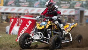 Can-Am® DS 450™ racer Jeffrey Rastrelli earned his first career Pro class podium by finishing third at round seven of the 2014 Mtn. Dew ATV Motocross National Championship Series held in New York.