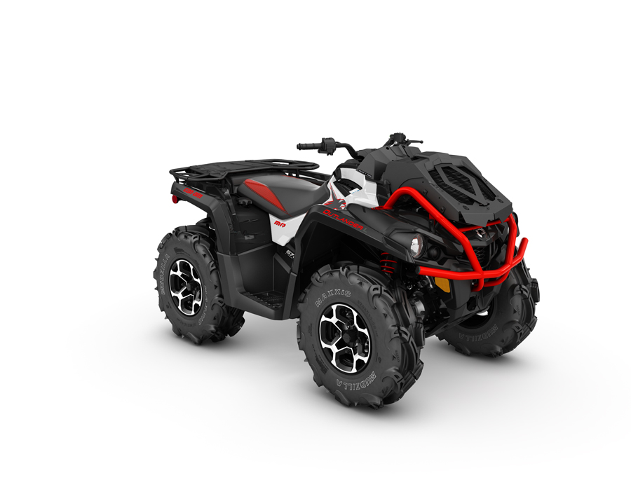 2016 Outlander L XMR 570 White, Black - Can-Am Red_3-4 front