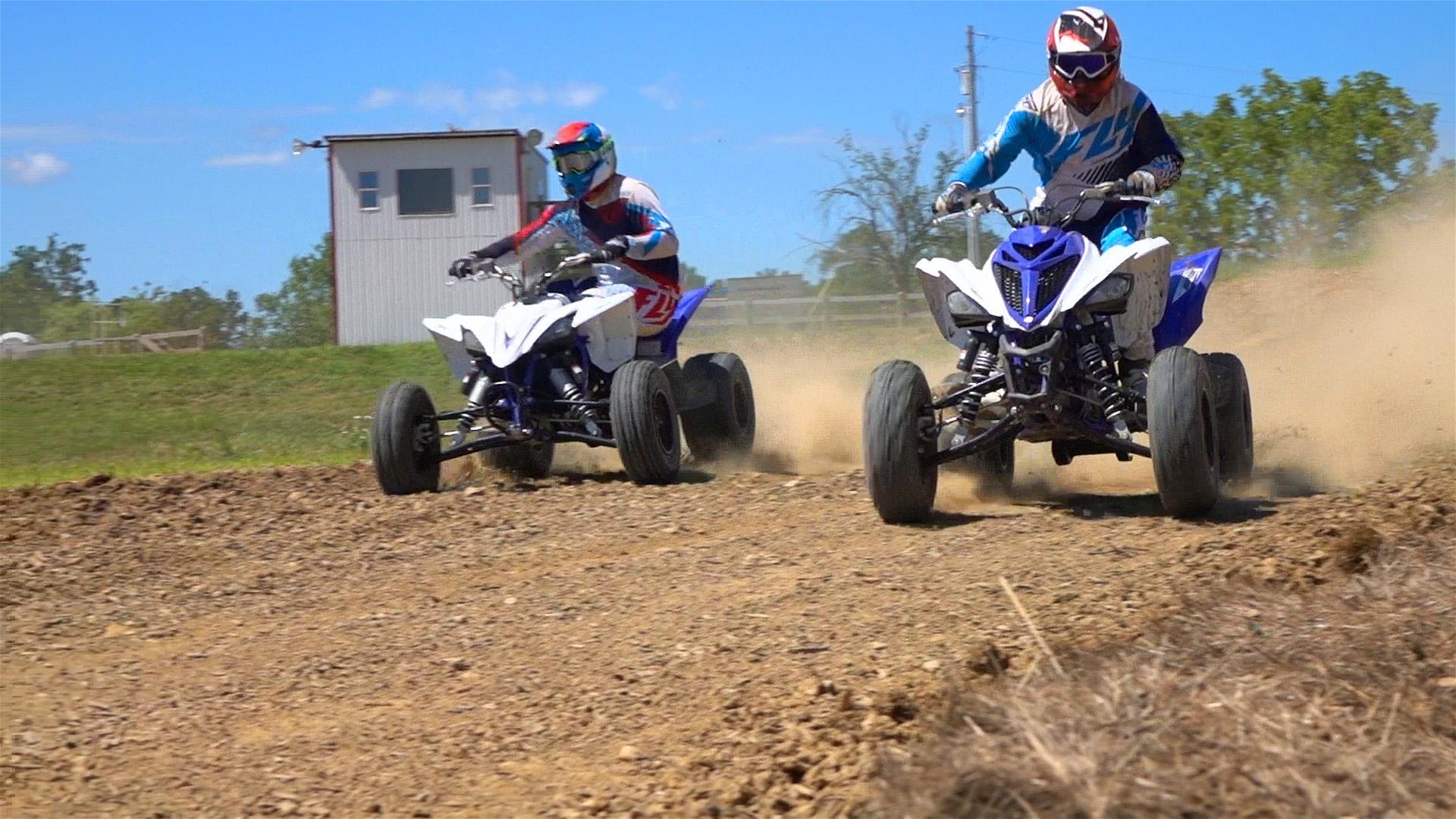 Yamaha Raptor YFZ450R VS Raptor 700R Shootout: WITH VIDEO
